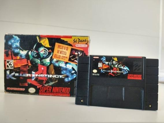 Killer Instinct Original Snes Super Nintendo Americano Caixa