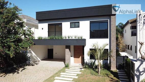 Locação Casa Semi Mobiliada Alto Padrão! 4 Suítes 4 Vagas - Ca0655