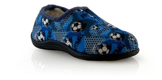 Pantufla Hornito 066-20 Corderito Azul 23 Al34 Elis Calzados