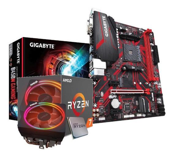 Kit Processador Amd Ryzen 7 2700x Gigabyte B450m-ga