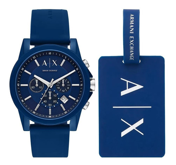 Relógio Armani Exchange Outerbanks Azul Ax7107/8an