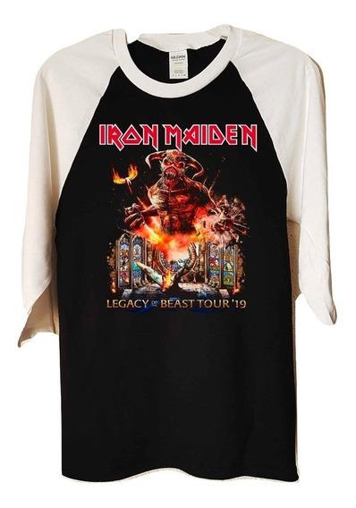 Iron Maiden Legacy Of The Beast Polera 3/4 Metal Abominatron