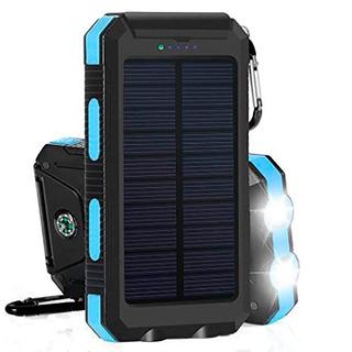 Tecmaster Powerbank Bateria Solar Portatil 8000mah Con Luz