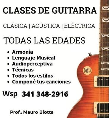 Aprovechá El Verano, Aprendé A Tocar La Guitarra!! Clases