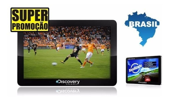 Gps Discovery Channel Tv Digital, Tela De 4,3 Atualizado