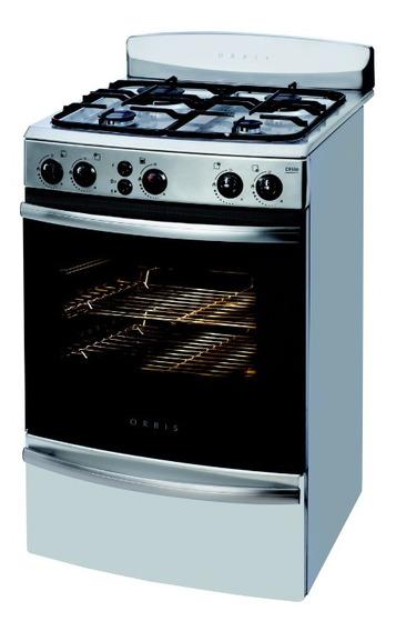 Cocina 4 Hornallas Orbis Acero 55 Cm 958 Ac3 C/valv