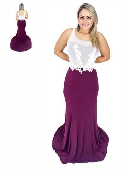 Vestido Longo De Renda, A Pronta Entrega! Roupas Femininas