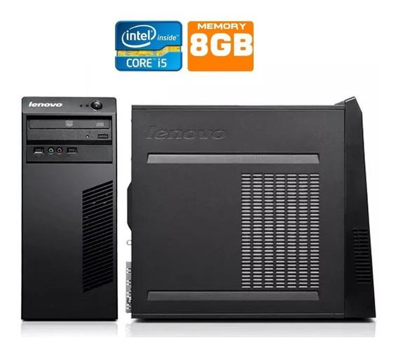 Pc Completo Cpu Lenovo I5 8gb Hd 500gb + Semi Nova.