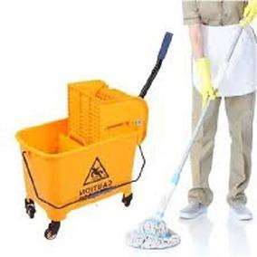 Carrinho Balde Espremedor De Limpeza Mop Industrial
