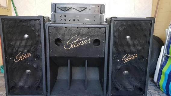 Som Staner Amplificador/equalizador/caixas