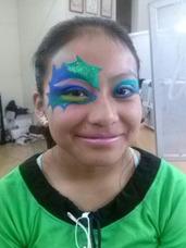 Caritas Pintadas-marcos De Selfie -maquillaje En Neon