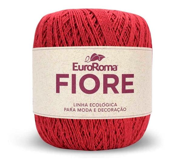 Linha Barbante Euroroma Fiore 8/4 150g - Vermelho