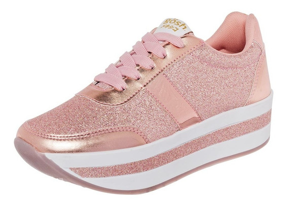 Tenis Casual Mujer Oro Rosa T84245
