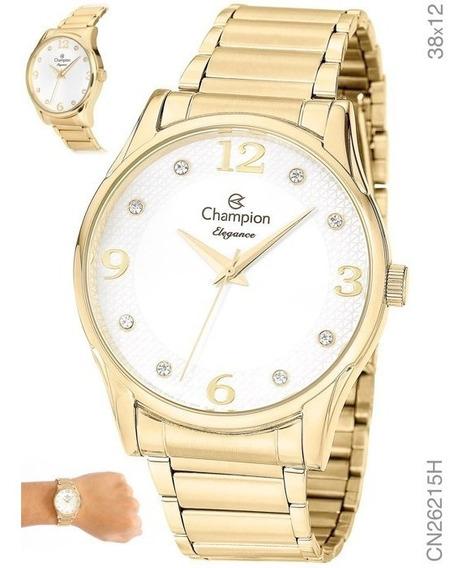 Relógio Feminino Dourado Champion Cn26215h