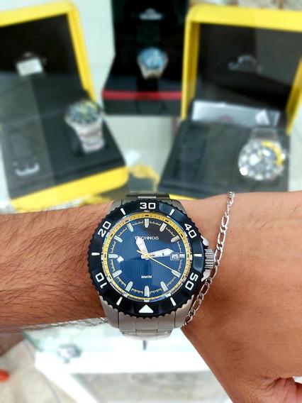 Relógio Technos Acqua Titanio 800m 8215av - Edição Especial
