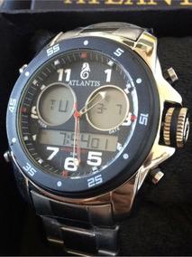 Relógio Original Atlantis Dourado Multifuncional