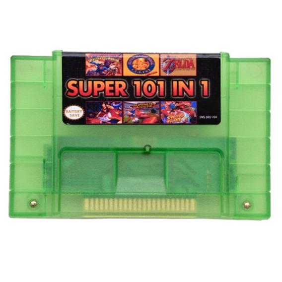 Cartucho Fita 101 Em 1 Super Nintendo Snes Multi Jogos Save