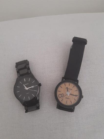 1 Relógio Masculino Curren + 1 Relógio Unissex Feifan Eight