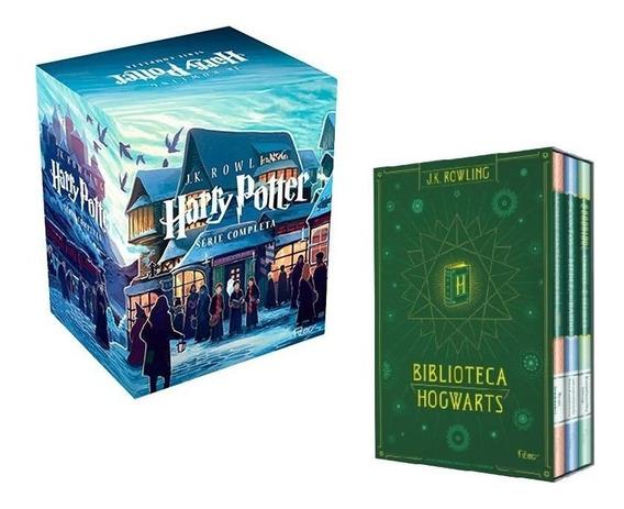 Boxes 10 Livros Coleção Harry Potter + Biblioteca Hogwarts #