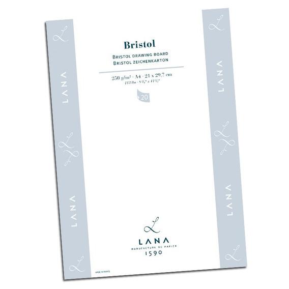 Papel Desenho Lana Bristol 250 Gm² Blocoa4 20 Folhas5023575