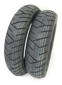 Jogo Pneus 100/90-10 + 90/90-12 Pirelli P/ Honda Lead 110 Cc