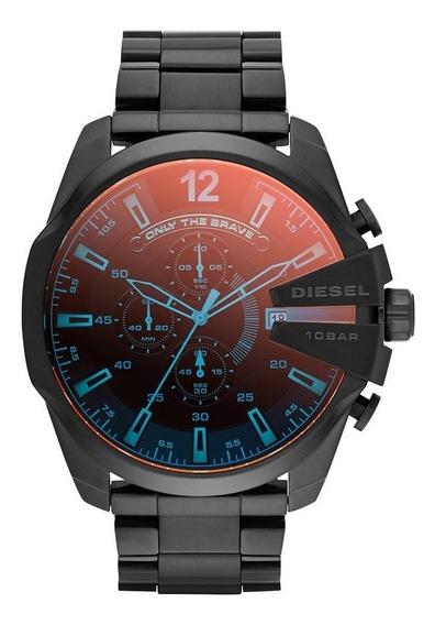 Relógio Diesel Masculino Mega Chief Cronógrafo Dz4318/1pn