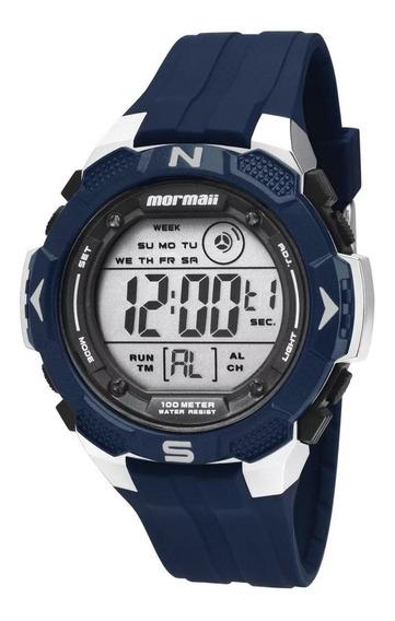 Relógio Mormaii Azul Digital Masculino Mo2908/b8a