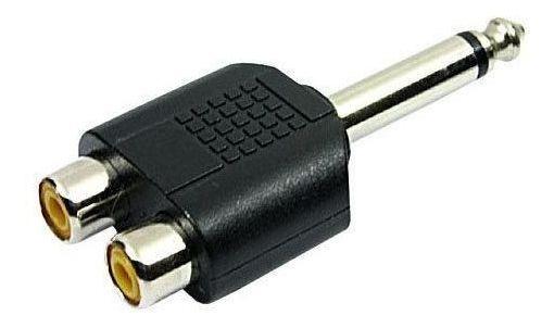 Adaptador P10 Mono Para 2 Jack Rca Chipsce - 003-1212