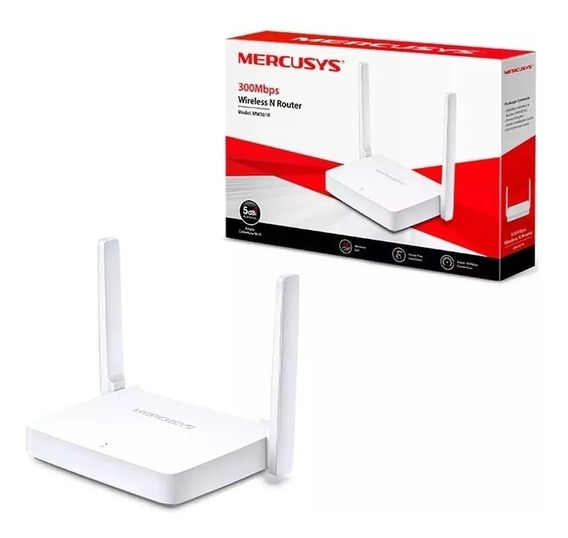 Roteador Tplink Mercusys Mw301r 300mbps 2 Antenas