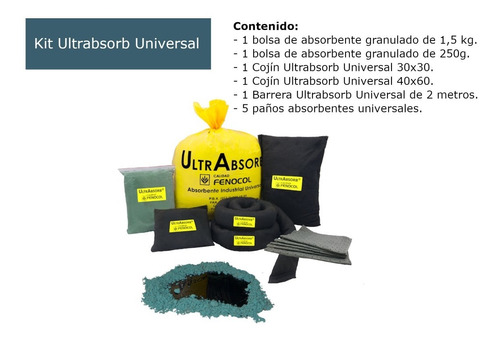 Imagen 1 de 7 de Kit Antiderrame Ultrabsorb Universal