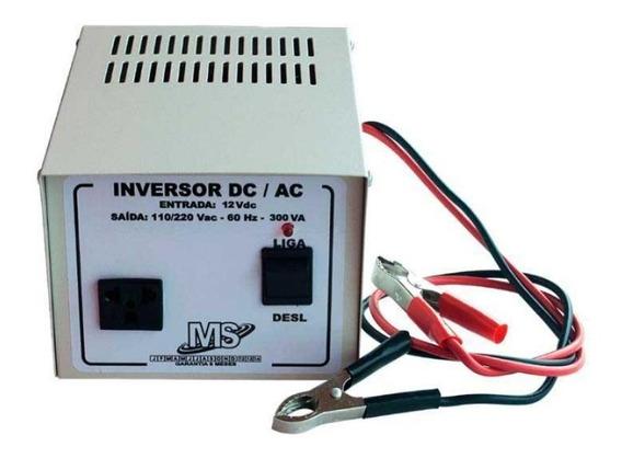 Inversor Tensão Bateria 12v 300va Nacional 110v 220v Dc - Ac