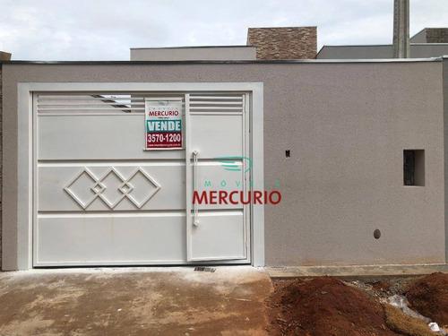 Casa À Venda, 75 M² Por R$ 295.000,00 - Parque Santa Edwiges - Bauru/sp - Ca3144