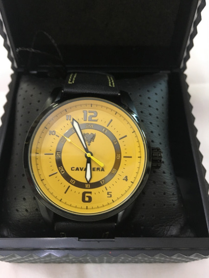 Relógio De Pulso Cavalera Cv28115 Couro Masculino Original