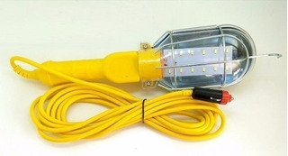 Lanterna Portátil 12 Led 5m De Cabo Com Tomada 12v P/ Carro
