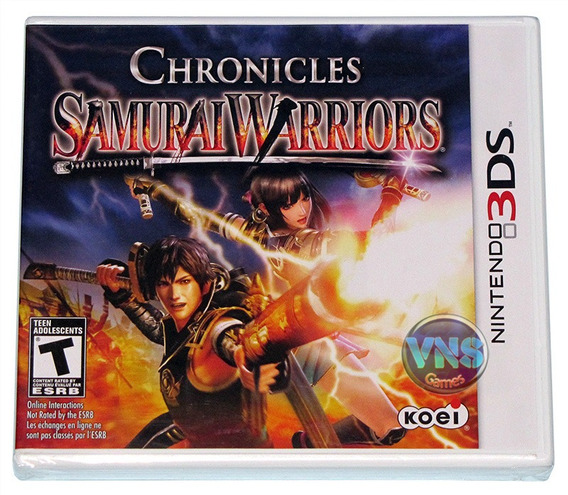 Samurai Warriors Chronicles - 3ds - Americano - Lacrado