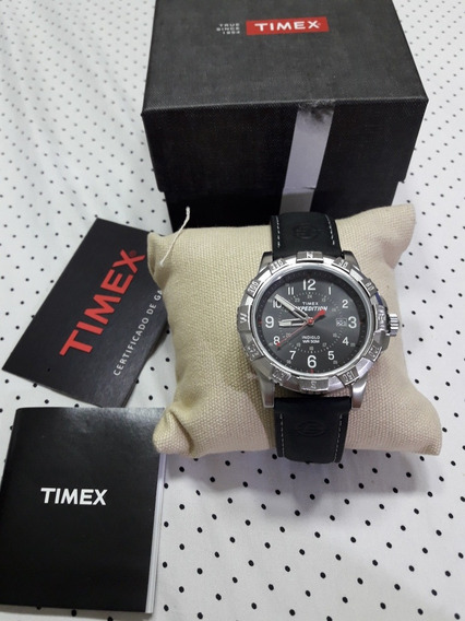 Relógio Timex Expedition Indiglo Pulseira Couro T49988w
