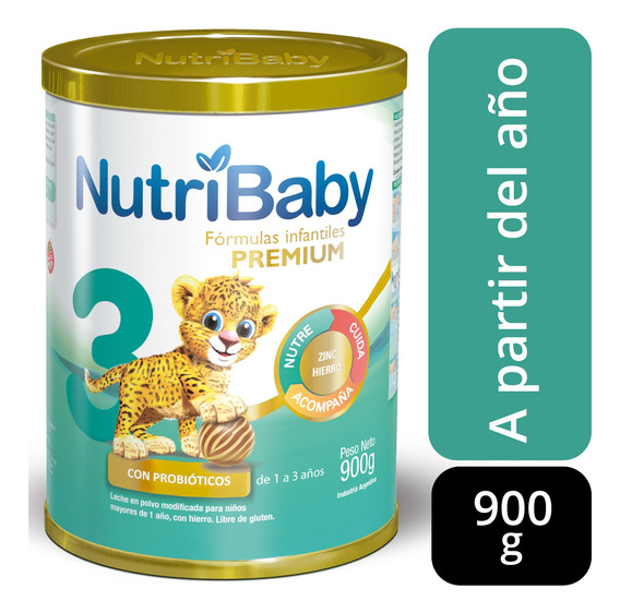 Nutribaby 3 Premium Leche 1 A 3 Años Lata X 900g