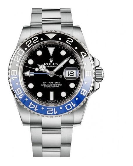 Relógio Eta - Mod. Gmt Master Il Batman - Eta 2840 Aço 904l.