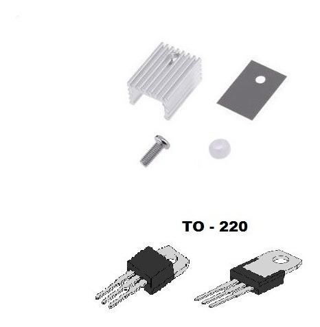 10 X Dissipador De Calor Em Alumínio To-220 - Frete R$12,00