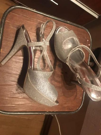 Zapatos Con Plataforma Plateados Usa