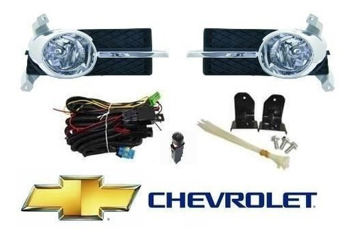 Faros Antinieblas Completo Chevrolet Aveo Lt/ls 2007 Cromado