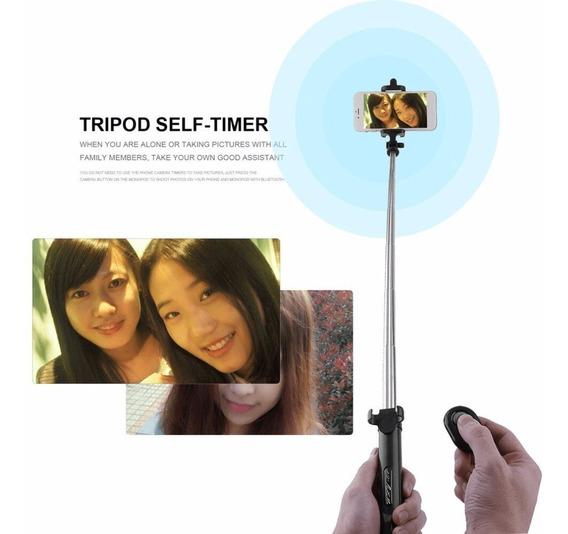 Tripé Bastão De Selfie Com Controle Recarregável Bluetooth
