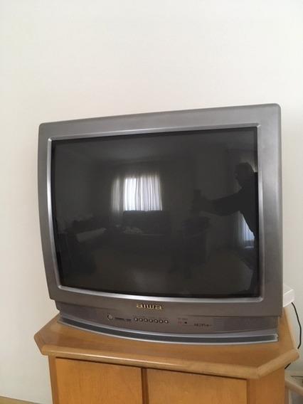 Tv Aiwa 29 Polegadas C/ Controle Remoto