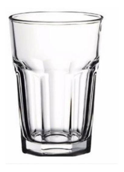 Vaso Facetado X48 400ml Transparente Durax Gaseosa Bar Resto
