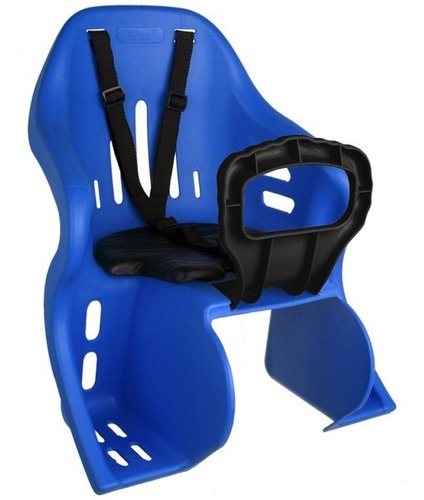Imagem 1 de 6 de Cadeira Cadeirinha Traseira Bicicleta Kid Bike Kalf Azul
