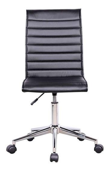 Cadeira De Escritório Modelo Esteirinha Preto - Fortt C276