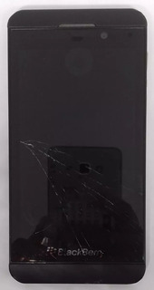 6° Blackberry Z10 Preto Com Tela Trincada
