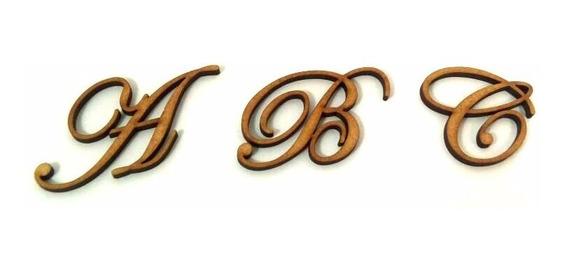 30 Letras Em Mdf Fonte Eduardian Script 3cm Altura