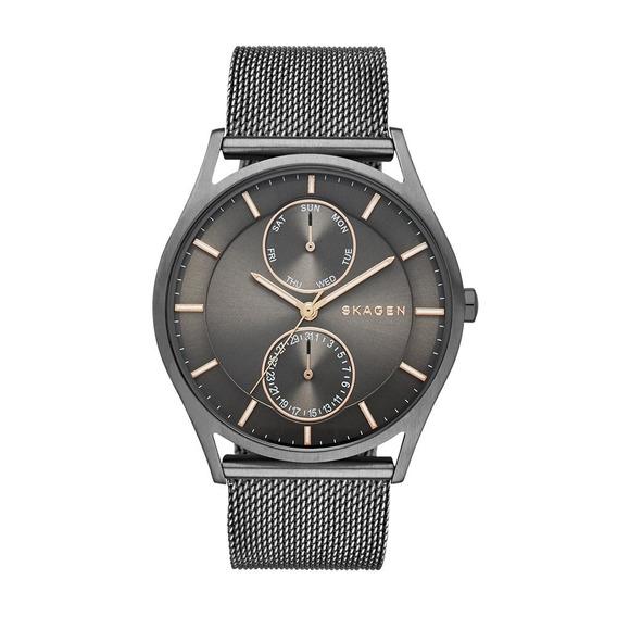 Reloj Skagen Skw6180 Holst Gris De Malla De Hombre Skagen