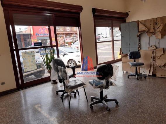 Salão Para Alugar, 264 M² Por R$ 5.000,00/mês - Vila Nossa Senhora De Fátima - Americana/sp - Sl0070